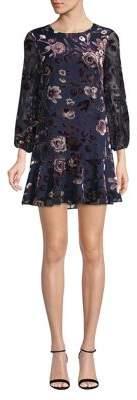 Eliza J Petite Floral Mini Shift Dress