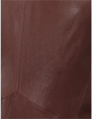 Narciso Rodriguez Burgundy Leather Dress