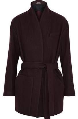 IRO Belted Wool-Blend Twill Jacket