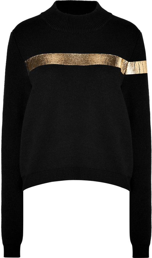 Jil Sander Cashmere-Wool Pullover in Black