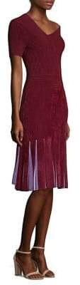 Yigal Azrouel Chenille Fit-&-Flare Dress