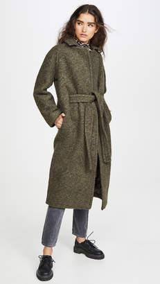 Ganni Boucle Wool Coat