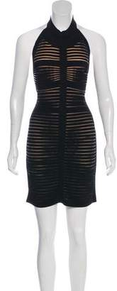 Balmain Halter Bodycon Dress
