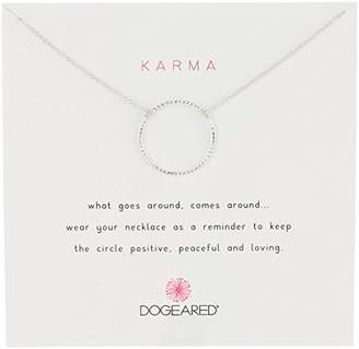 """Dogeared Karma"""" Mixed Metal Sterling Silver Tiny Sparkle Karma Ring Necklace"""