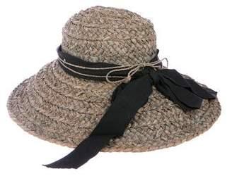 Helen Kaminski Raffia Bow-Trimmed Hat