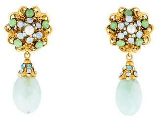 Jose & Maria Barrera Calcite, Crystal & Faux Pearl Clip-On Earrings