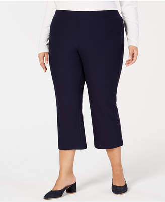 Eileen Fisher Plus Size Cropped Flare-Leg Pants