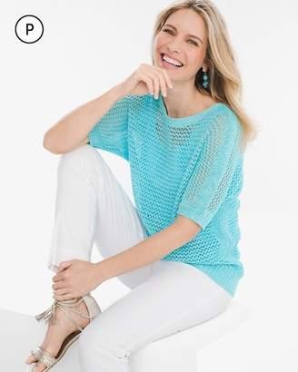 Petite Textured Pullover Sweater
