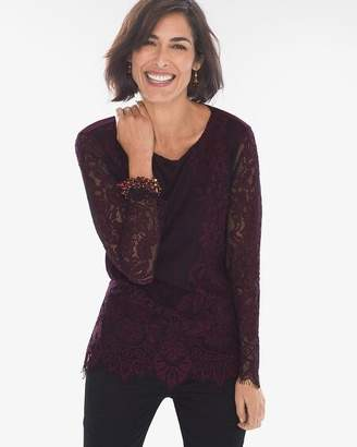 Chico's Chicos Lace-Front Top