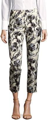 Lafayette 148 New York Women's Stanton Abstract-Print Cropped Pants