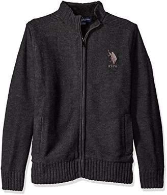 U.S. Polo Assn. Men's Reverse Jersey Full Lined Sweater Jacket