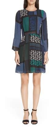 Derek Lam 10 Crosby Scarf Print Fit & Flare Dress