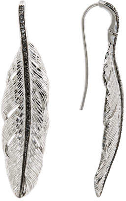 Michael Aram Large Feather Drop Earrings with Diamonds AQA3XD9cTO