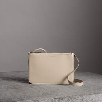 Burberry Triple Zip Grainy Leather Crossbody Bag
