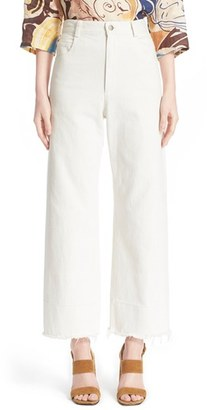 Women's Rachel Comey Legion Wide Leg Denim Pants $345 thestylecure.com