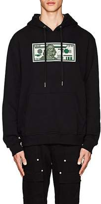 Mostly Heard Rarely Seen 8-Bit 8-BIT MEN'S HUNDRED-DOLLAR-BILL COTTON HOODIE - BLACK SIZE L