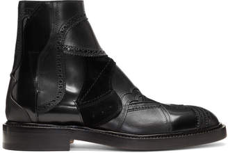 Maison Margiela Black Patchwork Chelsea Boots
