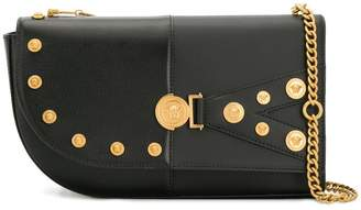 Versace front logo shoulder bag