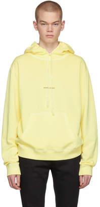 Saint Laurent Yellow Rive Gauche Logo Hoodie