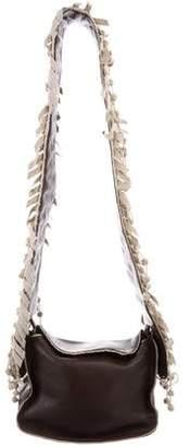 Bottega Veneta Canvas-Trimmed Crossbody Bag