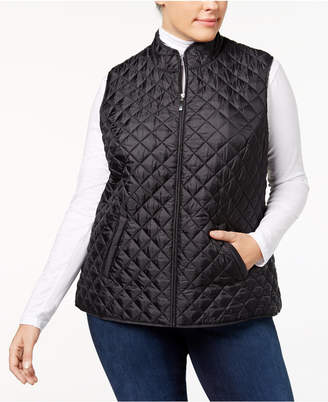 Karen Scott Plus Size Quilted Vest, Created for Macy's