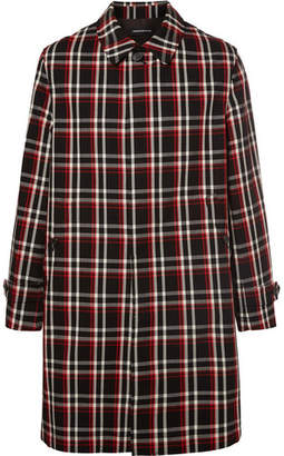 Undercover Reflective-Trimmed Checked Wool Coat - Men - Black