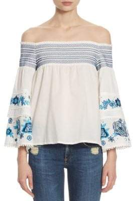 Parker Padma Cold-Shoulder Top