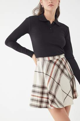 Urban Renewal Vintage Plaid A-Line Mini Skirt