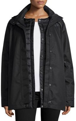The North Face 3-in-1 Hooded Jacket w/ Down Liner, Black $349 thestylecure.com
