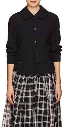 Comme des Garcons Women's Peter Pan-Collar Wool Blazer - Black