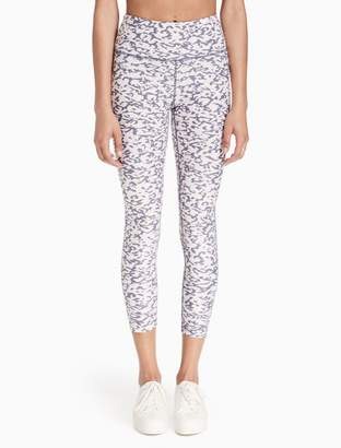 Calvin Klein printed high waist cropped leggings