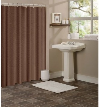 Hotel Collection Generic Dainty Home Waffle Shower Curtain, Chocolate