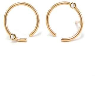 N+A New York Diamond Open Circle Stud Earrings