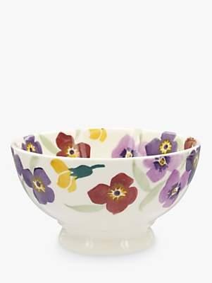 Emma Bridgewater Wallflower Border French Bowl, Multi, Dia.14cm
