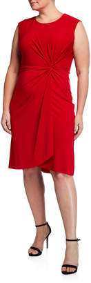 Taylor Plus Size Knotted-Front Dress