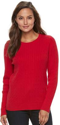 Croft & Barrow Women's Essential Cable-Knit Sweater