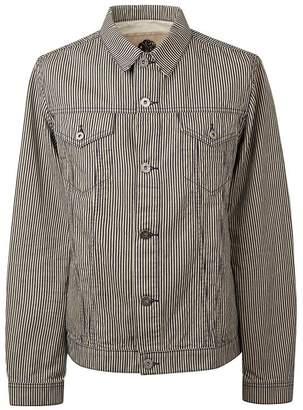 Pretty Green Stripe Denim Jacket