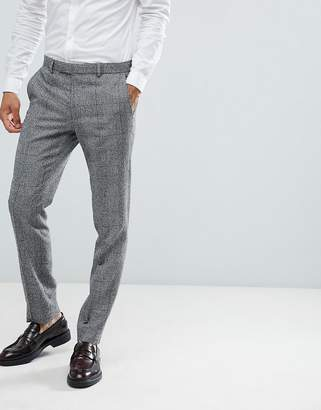 Moss Bros skinny suit PANTS in check