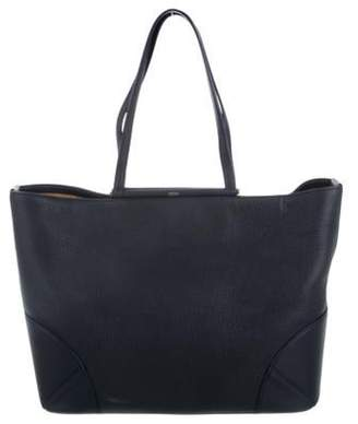 MCM Leather Tote Bag blue Leather Tote Bag