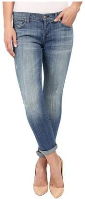 7 For All Mankind Josefina w/ Rolled Hem in Bright Light Broken Twill Women's Jeans