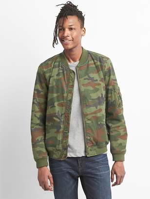 Gap Wearlight Camo Bomber Jacket