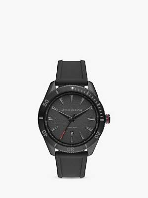 Armani Exchange AX1829 Men s Date Silicone Strap Watch 3ed17379c78d