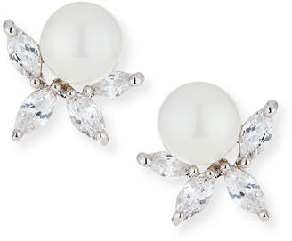 Fallon Monarch Pearly Starburst Crystal Earrings