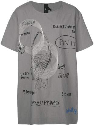 Bernhard Willhelm oversized T-shirt