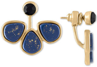 Rachel Roy Gold-Tone Crystal & Stone Front-and-Back Earrings
