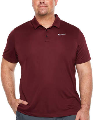 Nike Embellished Short Sleeve Knit Polo Shirt Big and Tall