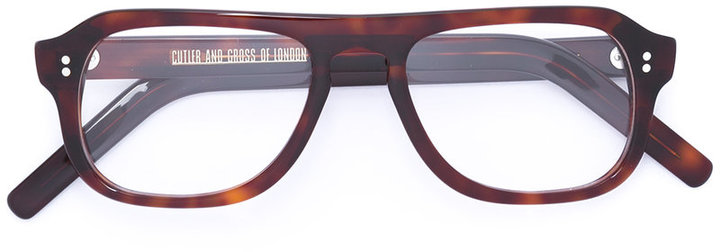 Cutler & GrossCutler & Gross tortoiseshell square glasses
