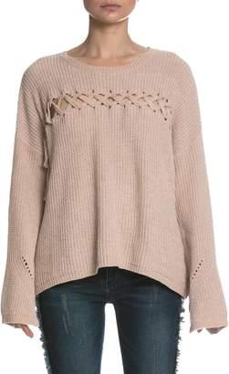 Elan International Lace Up Sweater