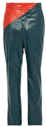 Calvin Klein Colour Block Rubberized Cotton Trousers - Mens - Blue