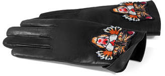 Gucci Leather Gloves with Angry Cat